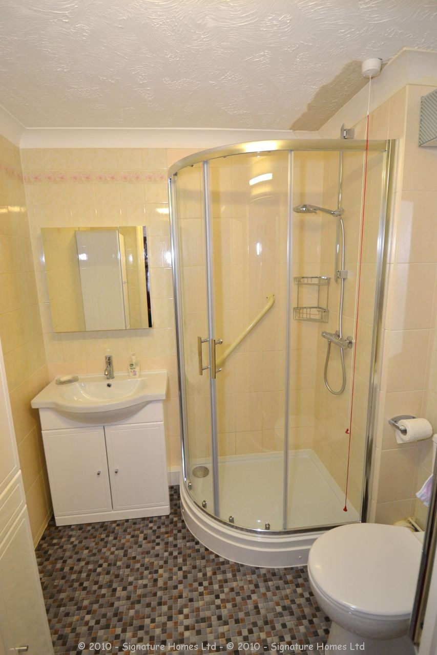 Shower room installation retirement flat emerald court Bathroom tile showers